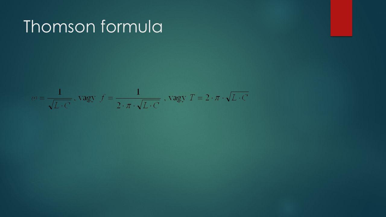 Thomson formula