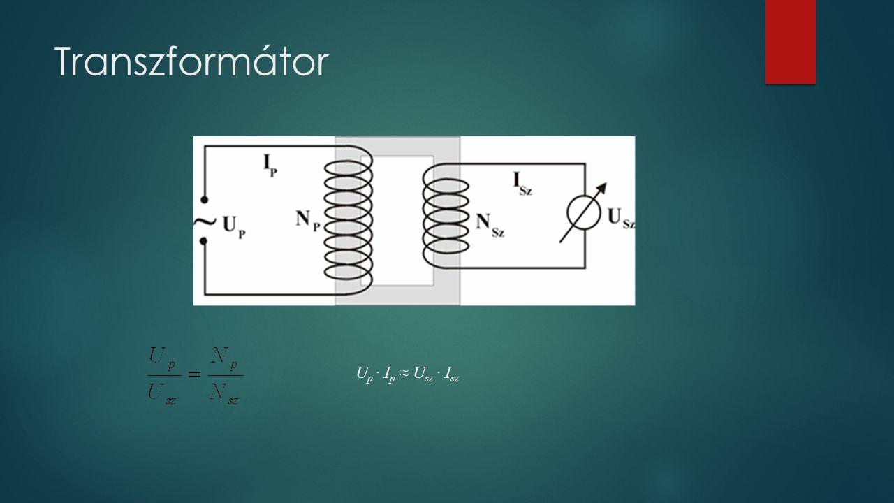 Transzformátor U p ∙ I p ≈ U sz ∙ I sz