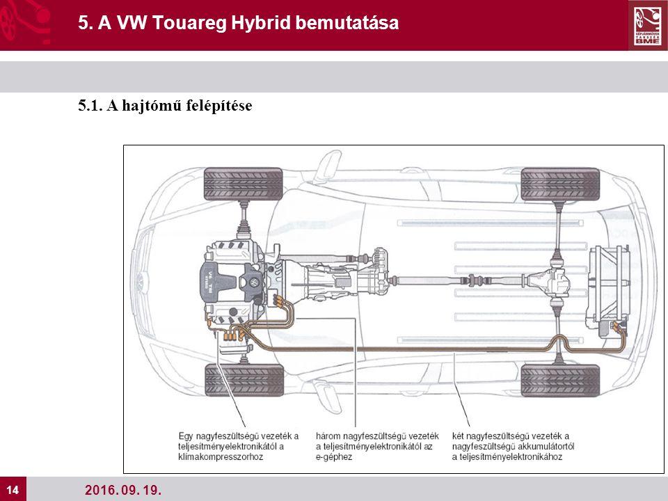 14 2016. 09. 19. 5. A VW Touareg Hybrid bemutatása 5.1. A hajtómű felépítése