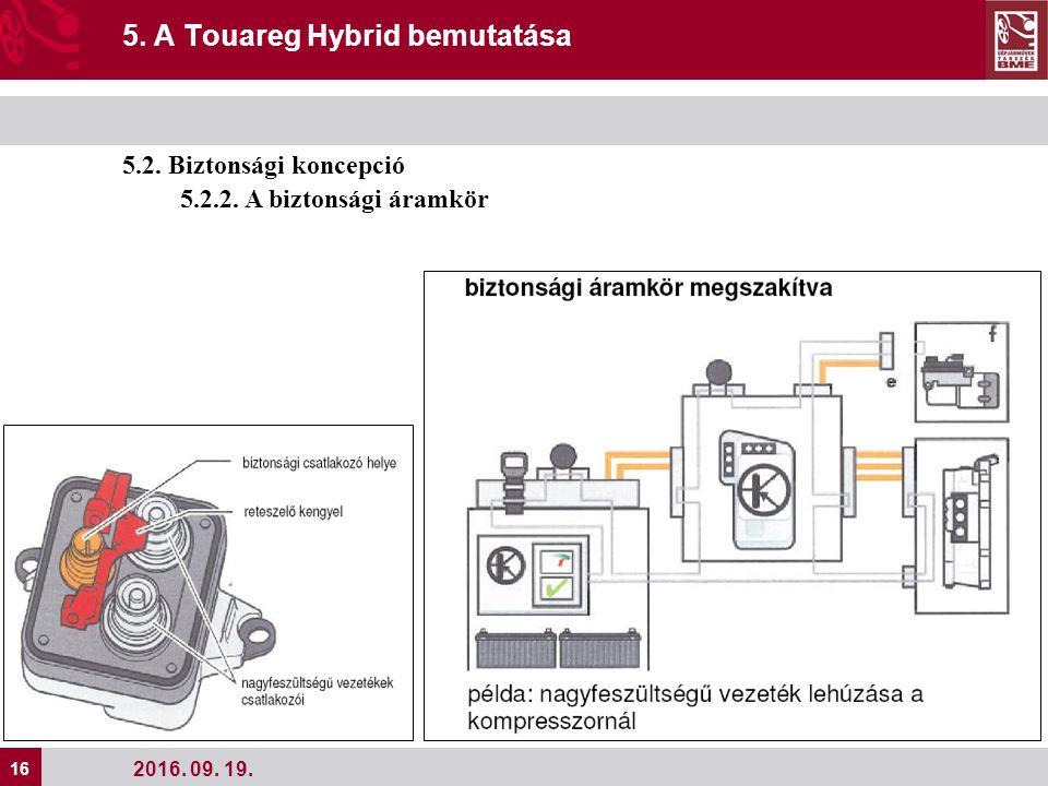 16 2016. 09. 19. 5. A Touareg Hybrid bemutatása 5.2.