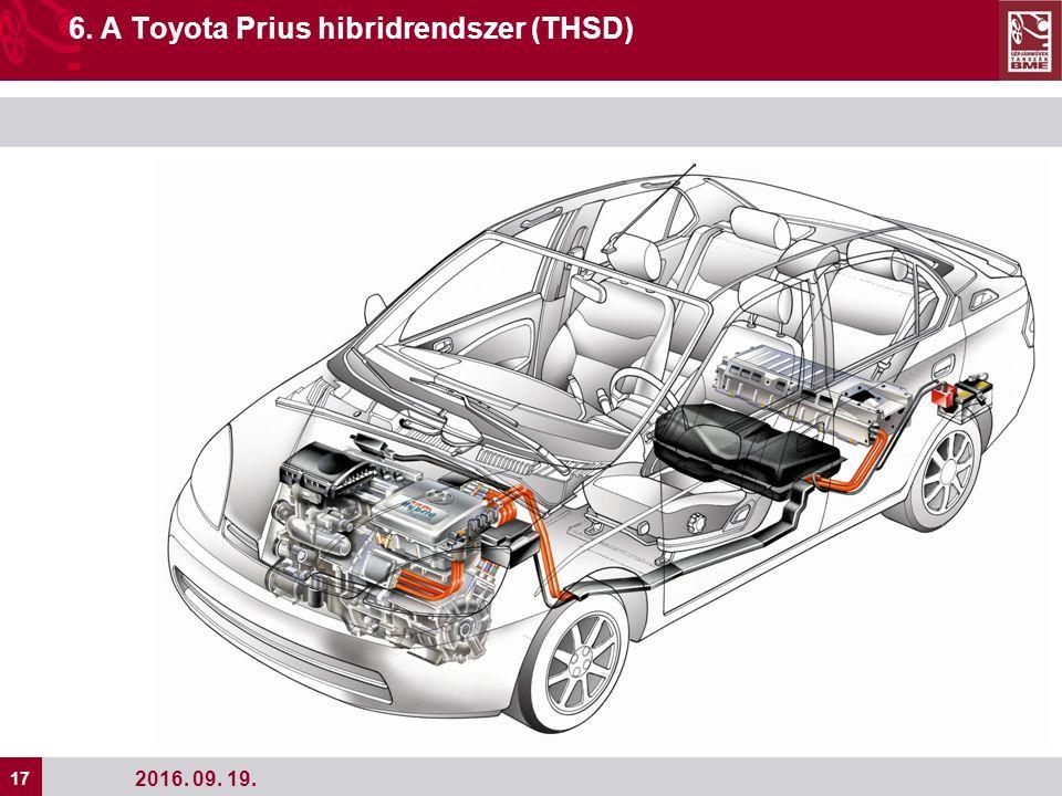 17 2016. 09. 19. 6. A Toyota Prius hibridrendszer (THSD)