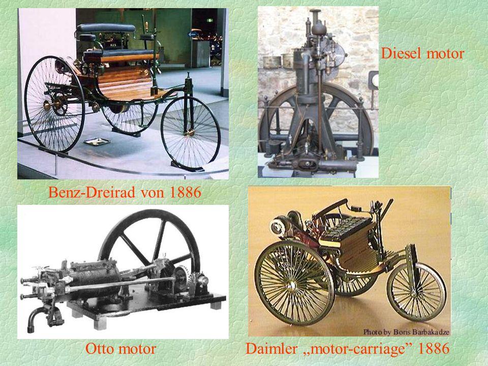 """Benz-Dreirad von 1886 Daimler """"motor-carriage"""" 1886 Diesel motor Otto motor"""