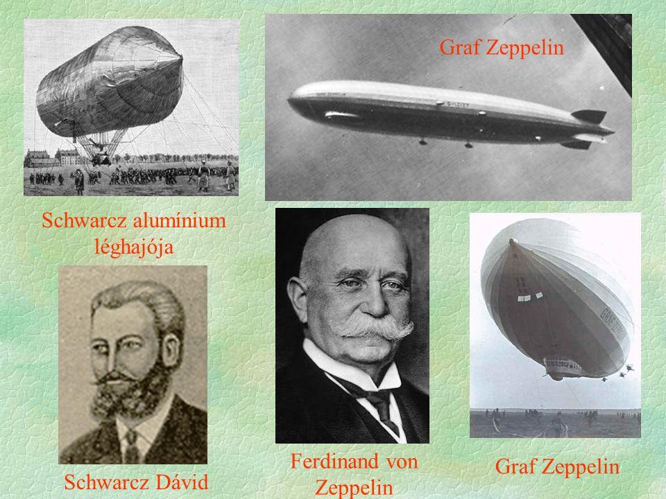 Schwarcz alumínium léghajója Schwarcz Dávid Ferdinand von Zeppelin Graf Zeppelin