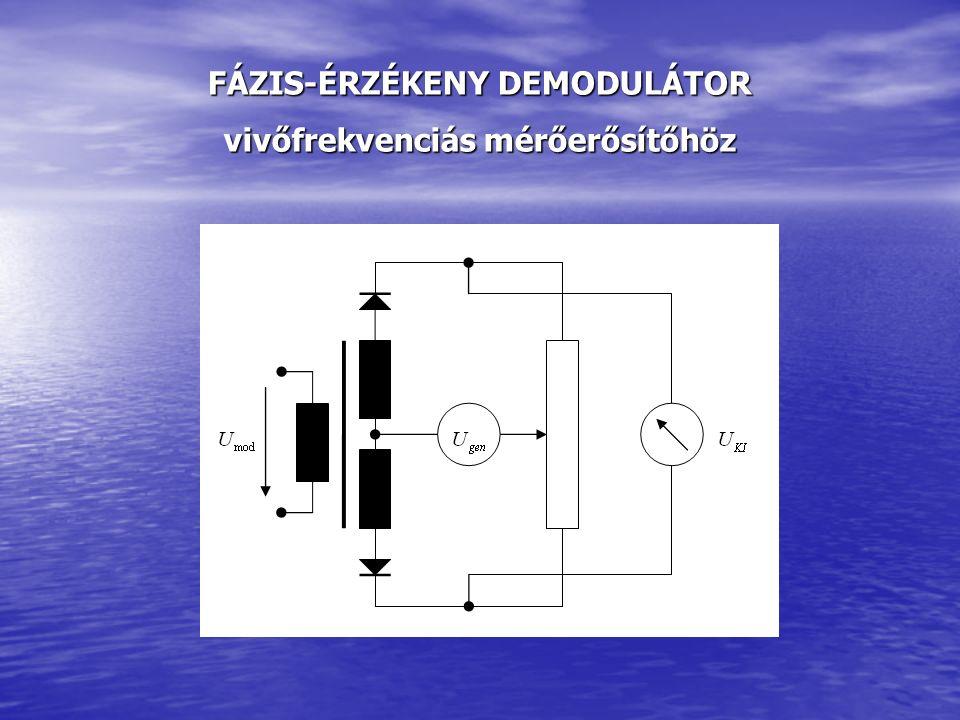 FÁZIS-ÉRZÉKENY DEMODULÁTOR vivőfrekvenciás mérőerősítőhöz