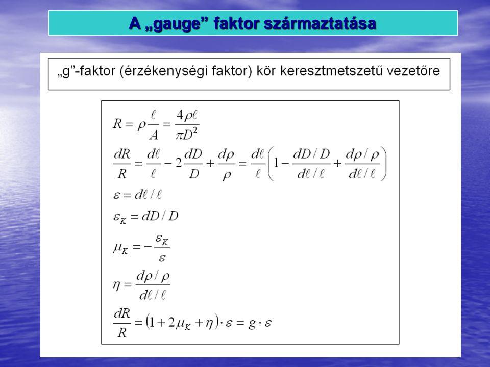 """A """"gauge faktor származtatása"""