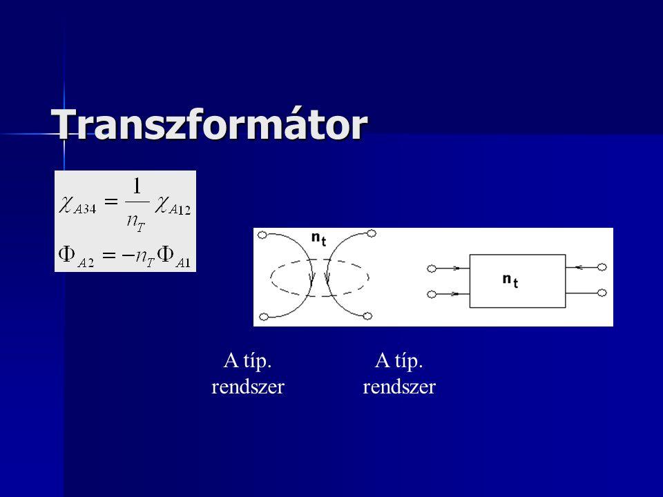 Transzformátor A típ. rendszer A típ. rendszer