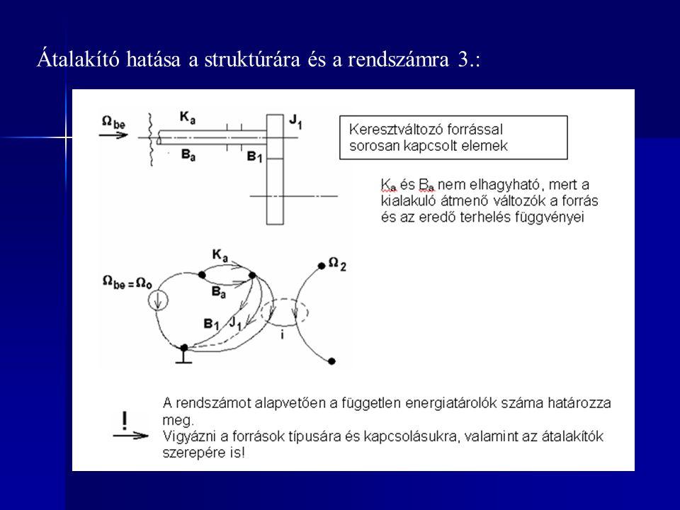 Átalakító hatása a struktúrára és a rendszámra 3.: