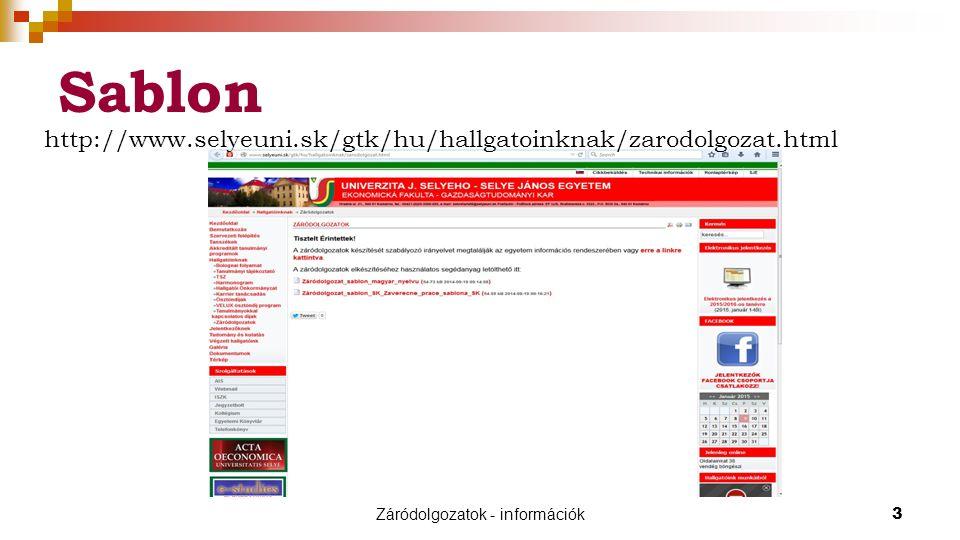 Záródolgozatok - információk14