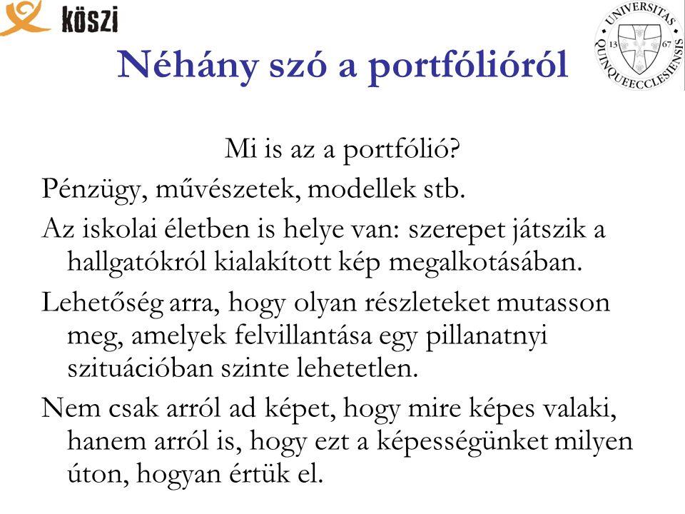 Néhány szó a portfólióról Mi is az a portfólió. Pénzügy, művészetek, modellek stb.