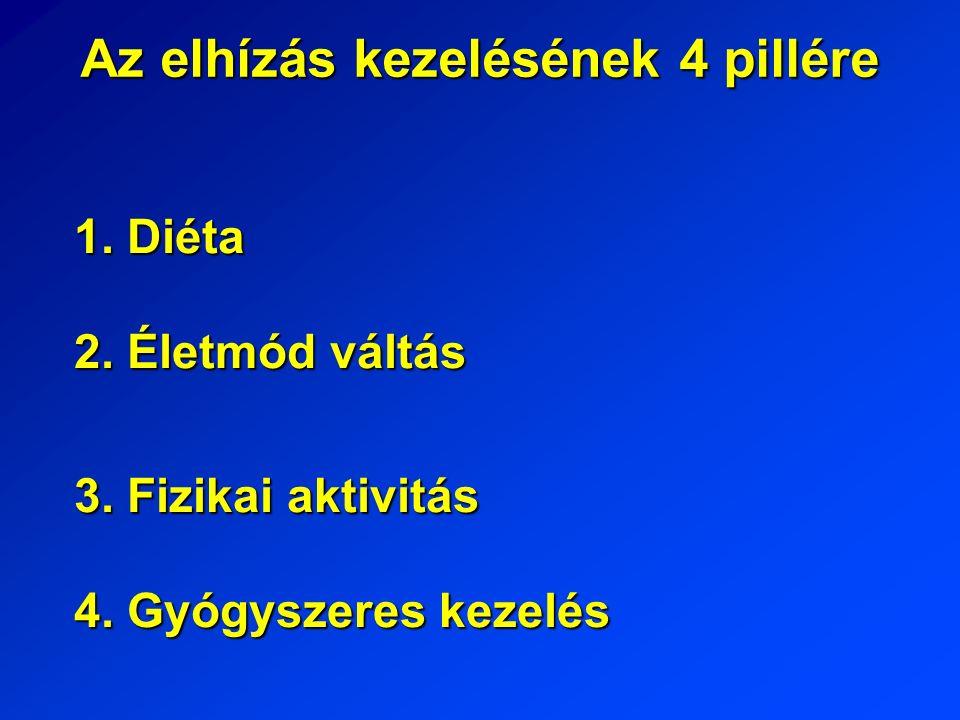 Az elhízás kezelésének 4 pillére 1. Diéta 2. Életmód váltás 3.