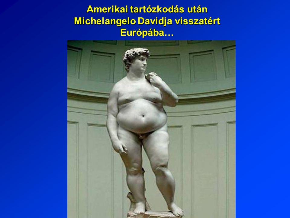 Amerikai tartózkodás után Michelangelo Davidja visszatért Európába…