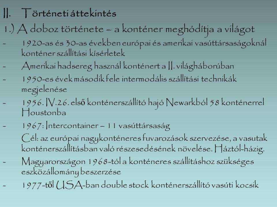 IX.Kombi operátorok Európában  Adria Kombi  Alpe Adria  Bertschi AG  Bohemiakombi  boxXpress GmbH  Cemat  Crokombi  CSKD – Intrans  DB Schenker  ERS Railways  Eurogate Intermodal GmbH  Gartner  Hannibal  Hungaria Intermodal  Hungarokombi  Hupac  IMS  Inter Ferry Boats  Italcontainer  Kombiverkehr  Metrans a.s.