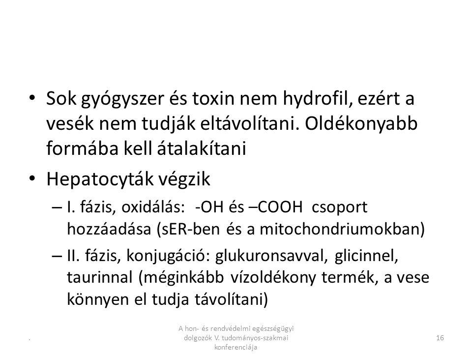 Sok gyógyszer és toxin nem hydrofil, ezért a vesék nem tudják eltávolítani.