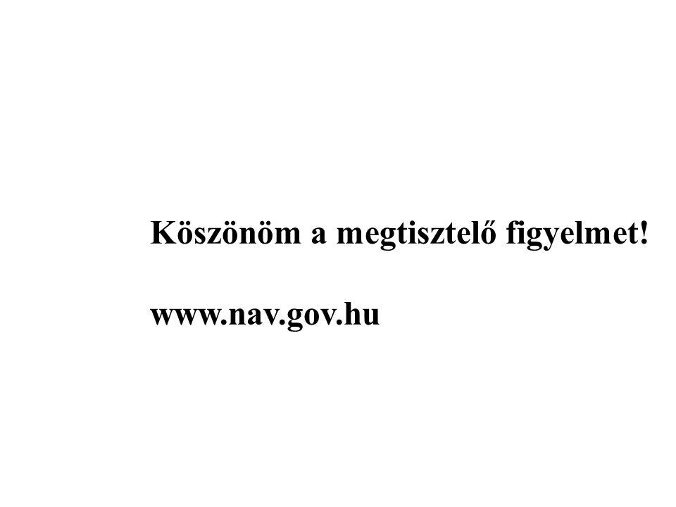Köszönöm a megtisztelő figyelmet! www.nav.gov.hu