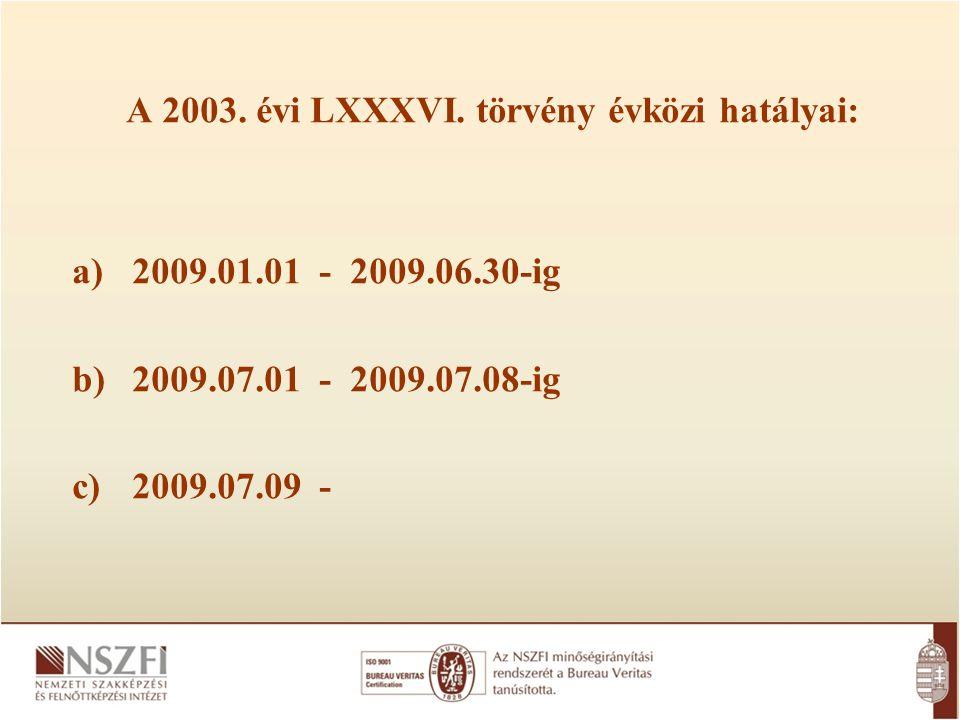 A 2003. évi LXXXVI.