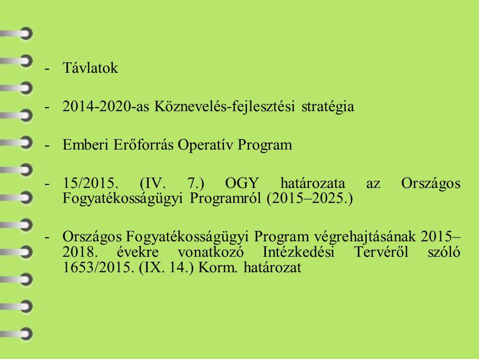 -Távlatok -2014-2020-as Köznevelés-fejlesztési stratégia -Emberi Erőforrás Operatív Program -15/2015.