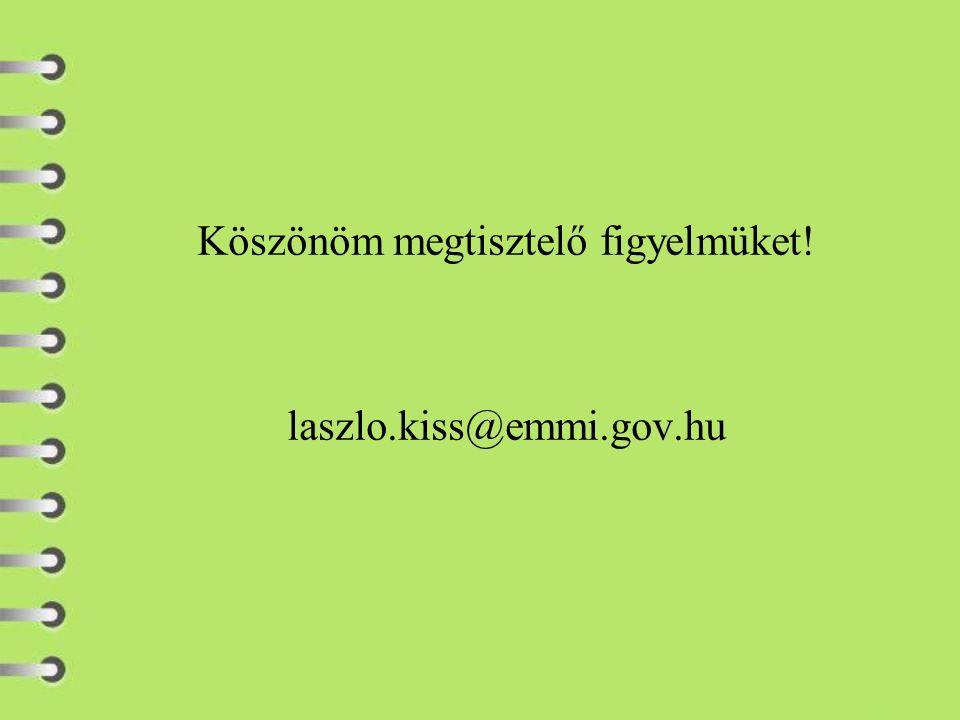Köszönöm megtisztelő figyelmüket! laszlo.kiss@emmi.gov.hu