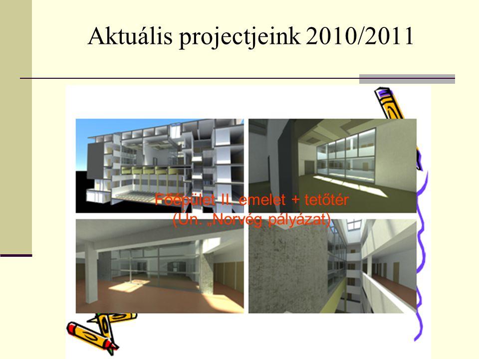 """Aktuális projectjeink 2010/2011 Főépület II. emelet + tetőtér (Ún. """"Norvég pályázat)"""
