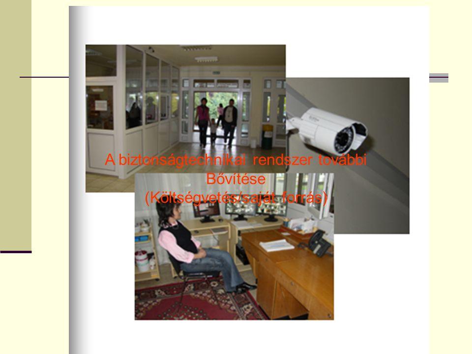 A biztonságtechnikai rendszer további Bővítése (Költségvetés/saját forrás)