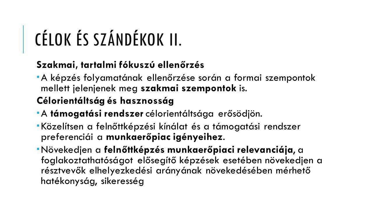 CÉLOK ÉS SZÁNDÉKOK II.