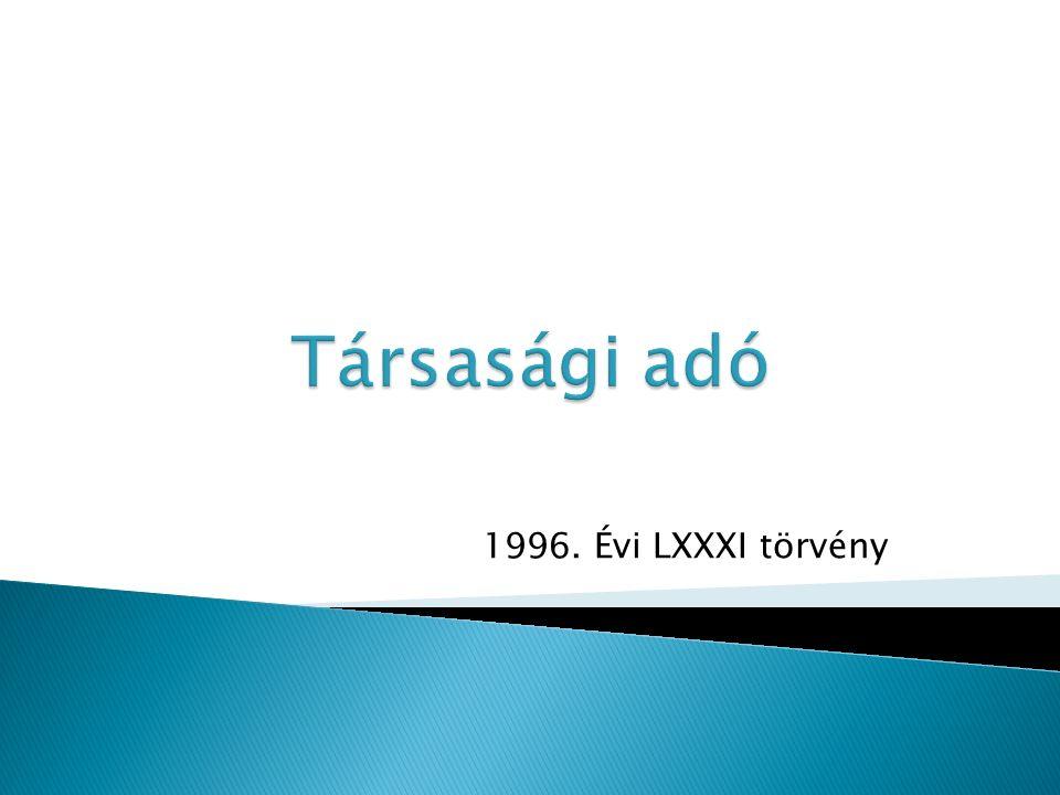1996. Évi LXXXI törvény