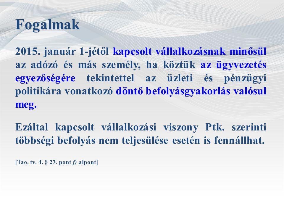 Fogalmak (új közösségi jogszabályok) 1857/2006/EK rendelet 4.