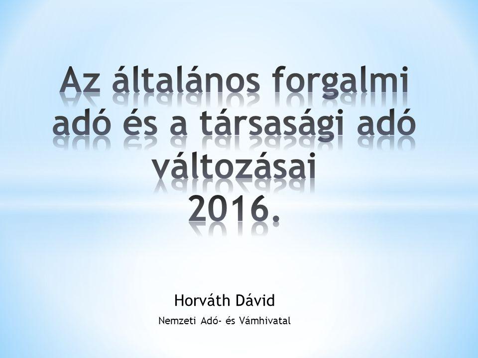 Horváth Dávid Nemzeti Adó- és Vámhivatal