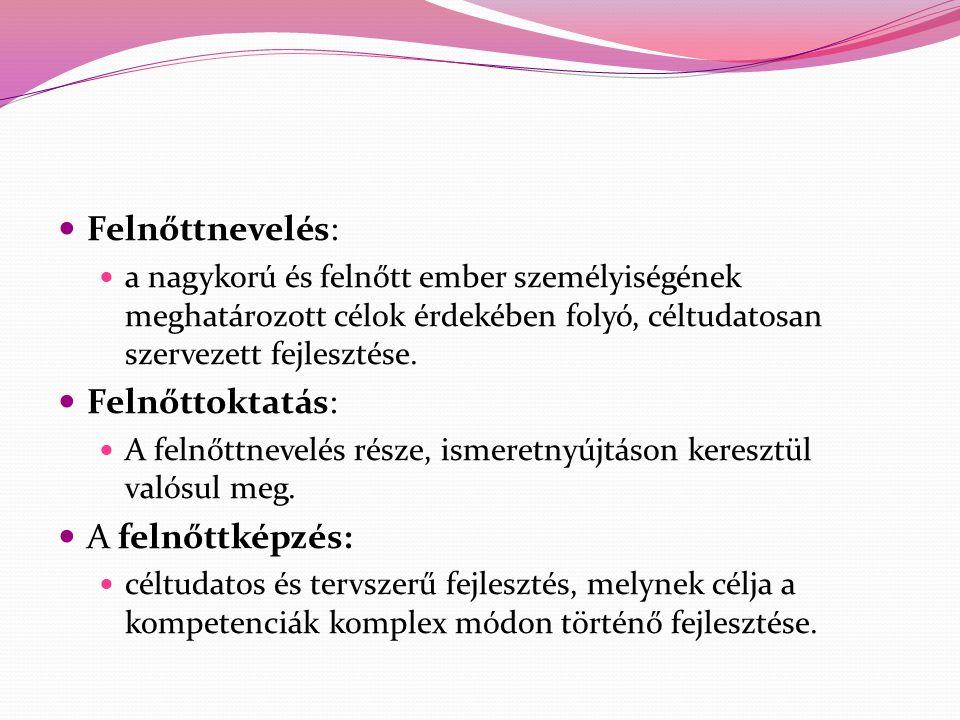 Csoma Gyula: A felnőttkori tanulás idődimenziói http://www.ofi.hu/tudastar/tanulo-felnott-felnott/felnottkori-tanulas