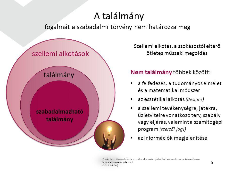 A bejelentési kérelemhez csatolni kell: a szabadalmi leírást az igényponttal a leírásban hivatkozott rajzokat (ha a találmány megértéséhez szükséges) a kivonatot Meg kell fizetni a bejelentési és kutatási díjat (37 400 Ft) Idegen nyelvű leírás estén be kell nyújtani a magyar nyelvű fordítását 27