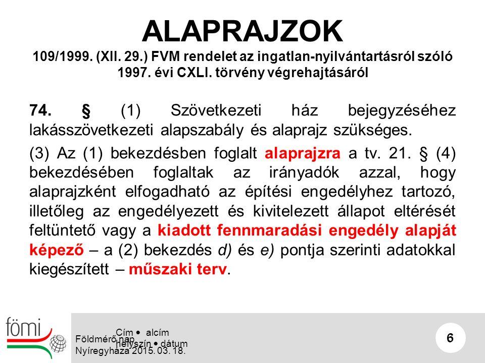 SZOLGALMI JOGOK 17 Földmérő nap Nyíregyháza 2015.03.