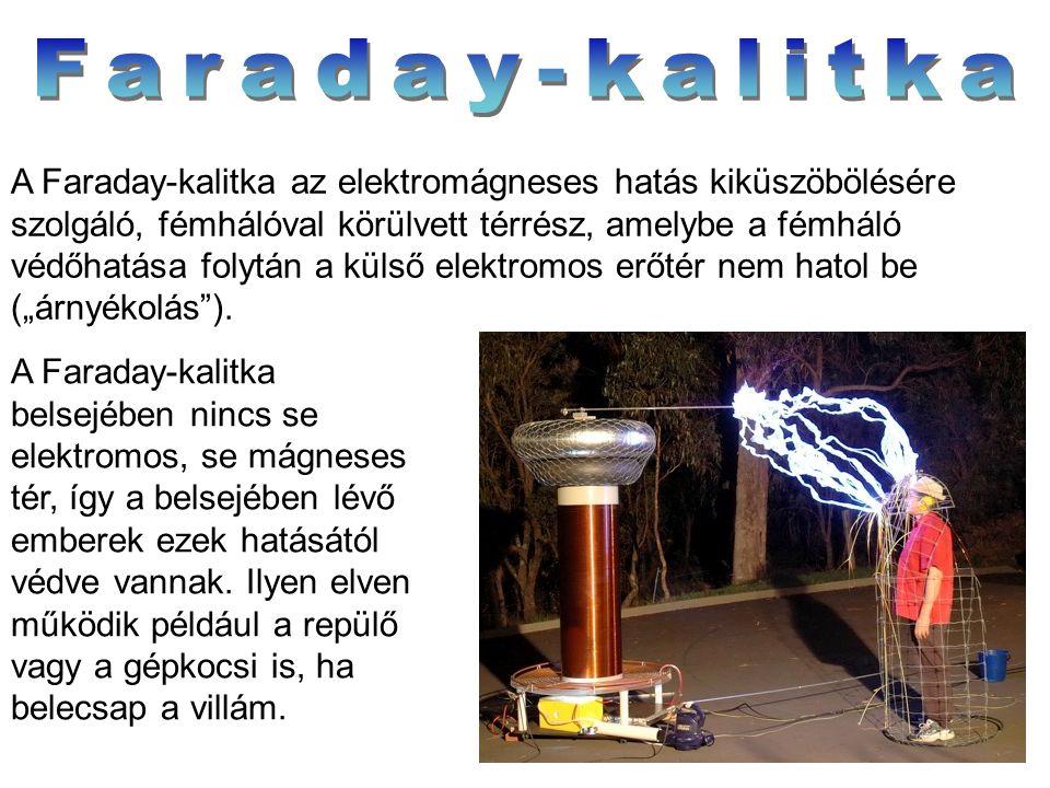 A Faraday-kalitka az elektromágneses hatás kiküszöbölésére szolgáló, fémhálóval körülvett térrész, amelybe a fémháló védőhatása folytán a külső elektr