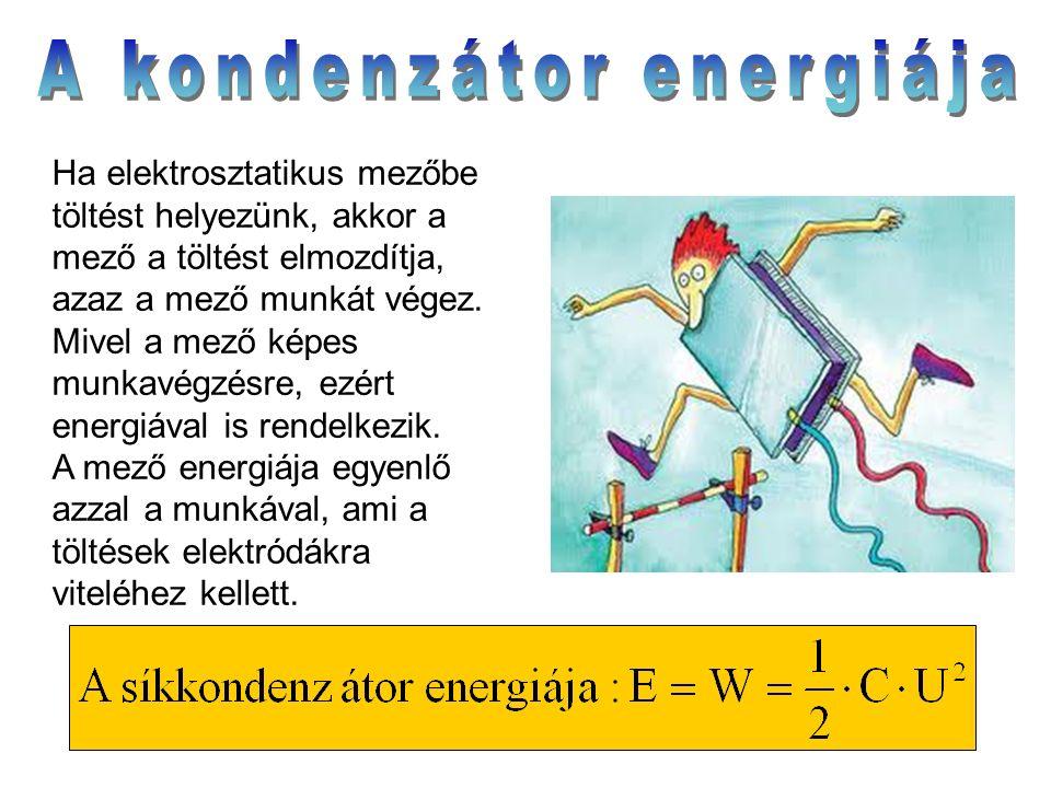 Ha elektrosztatikus mezőbe töltést helyezünk, akkor a mező a töltést elmozdítja, azaz a mező munkát végez. Mivel a mező képes munkavégzésre, ezért ene