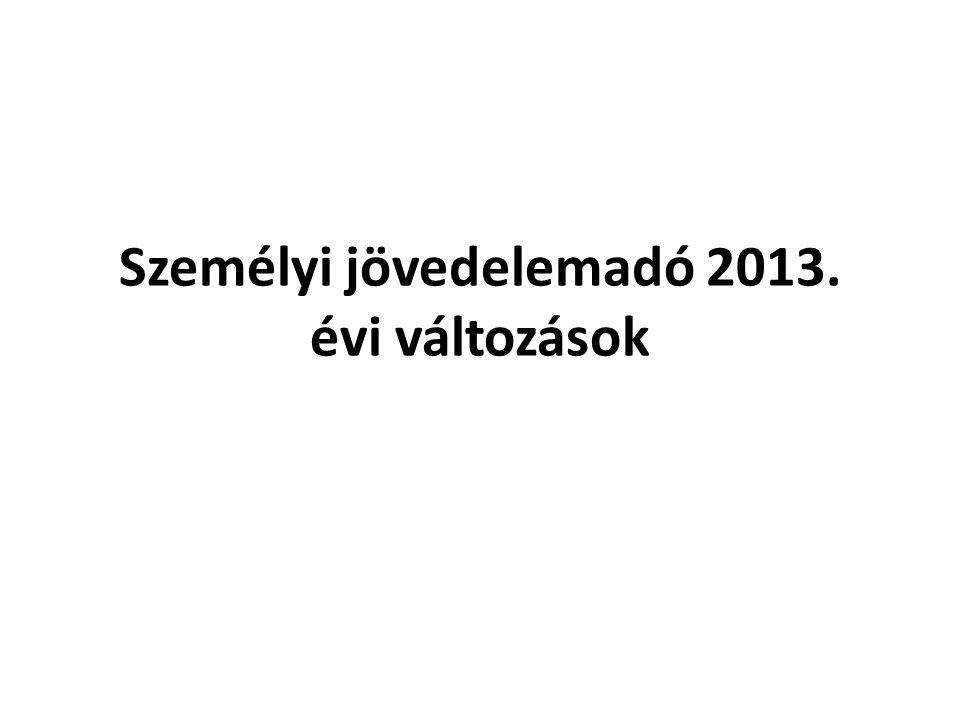 Bevallást érintő változások Adónyilatkozat: a módosított szabályokat 2012.