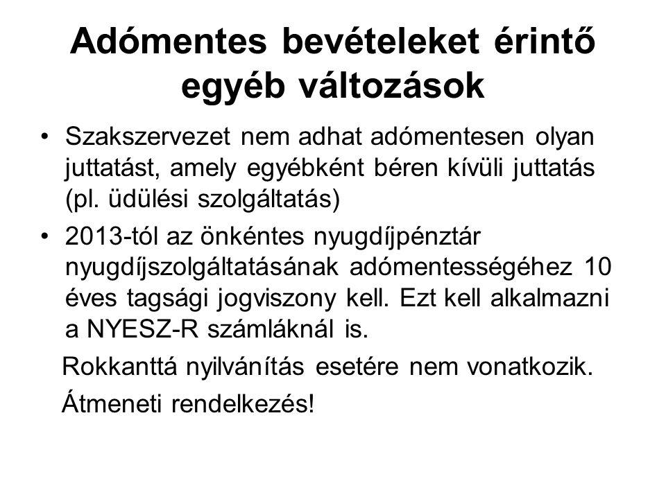 Biztosítások adókötelezettsége A 2013.évtől hatályos Szja tv.