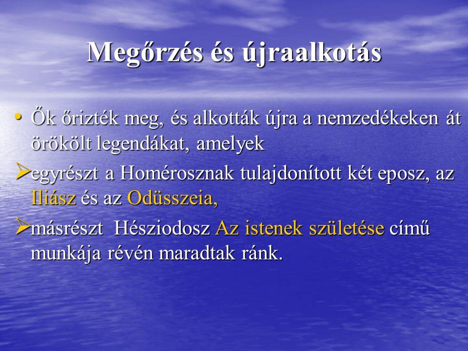 Kronosz apja Uranosz, apja Uranosz, anyja Gaia anyja Gaia felesége Rheia felesége Rheia gyermekei : gyermekei : Hesztia, Héra, Démétér, Hádész, Poszeidón és Zeusz Hesztia, Héra, Démétér, Hádész, Poszeidón és Zeusz