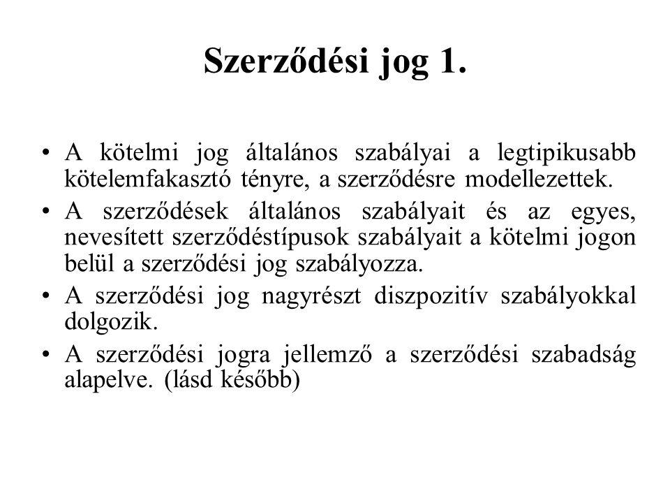 Szerződési jog 1.