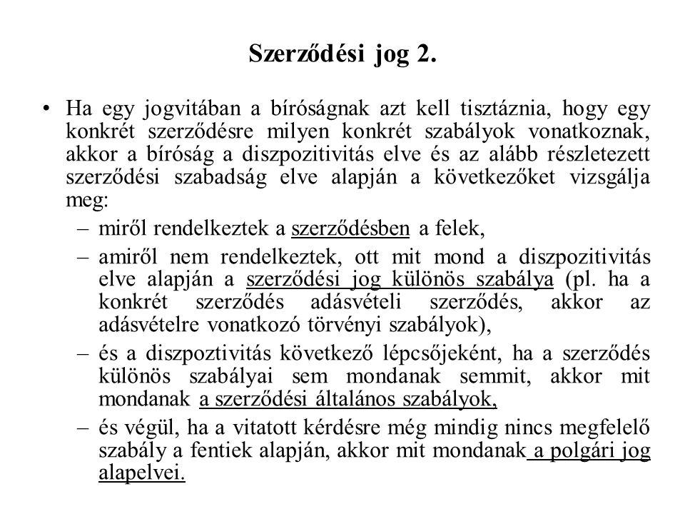 Szerződési jog 2.