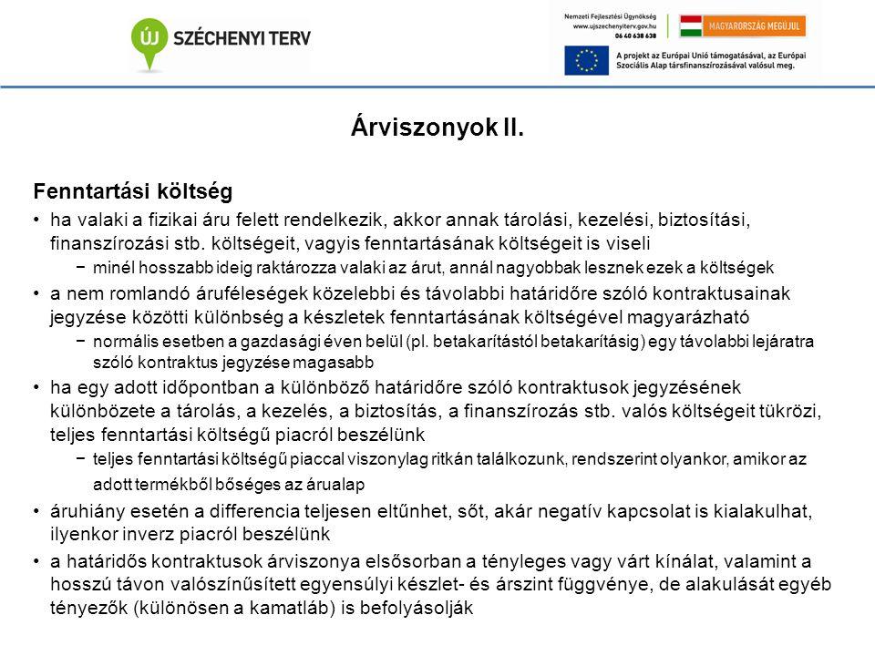 Árviszonyok II.