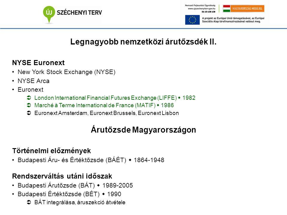 Jogszabályi keretek Magyarországon a tőzsdei tevékenység jogszabályi kereteit a 2001.