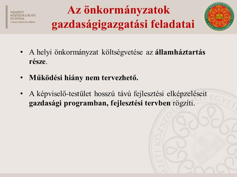 A helyi önkormányzat költségvetése az államháztartás része.