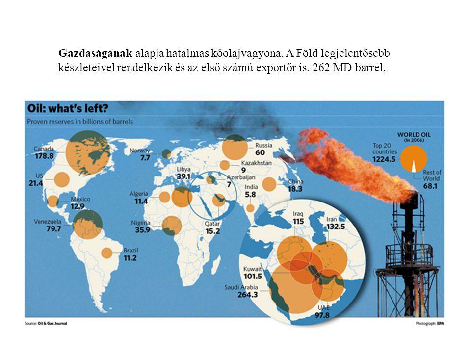 Gazdaságának alapja hatalmas kőolajvagyona. A Föld legjelentősebb készleteivel rendelkezik és az első számú exportőr is. 262 MD barrel.