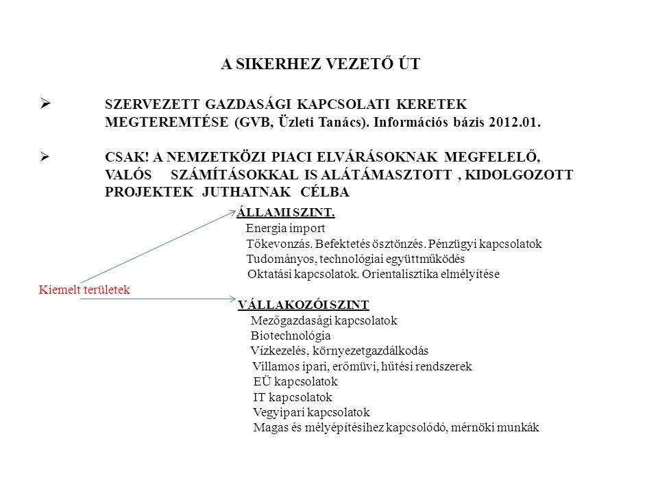 A SIKERHEZ VEZETŐ ÚT  SZERVEZETT GAZDASÁGI KAPCSOLATI KERETEK MEGTEREMTÉSE (GVB, Üzleti Tanács). Információs bázis 2012.01.  CSAK! A NEMZETKÖZI PIAC