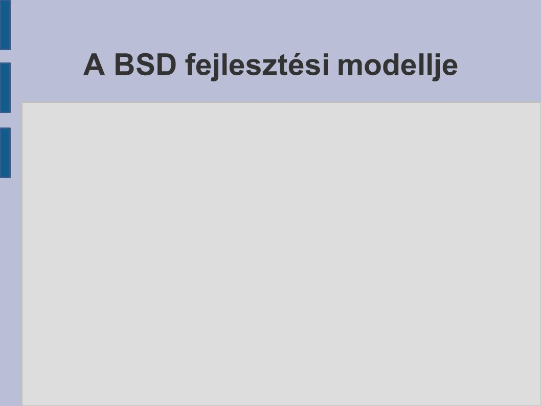 A BSD fejlesztési modellje