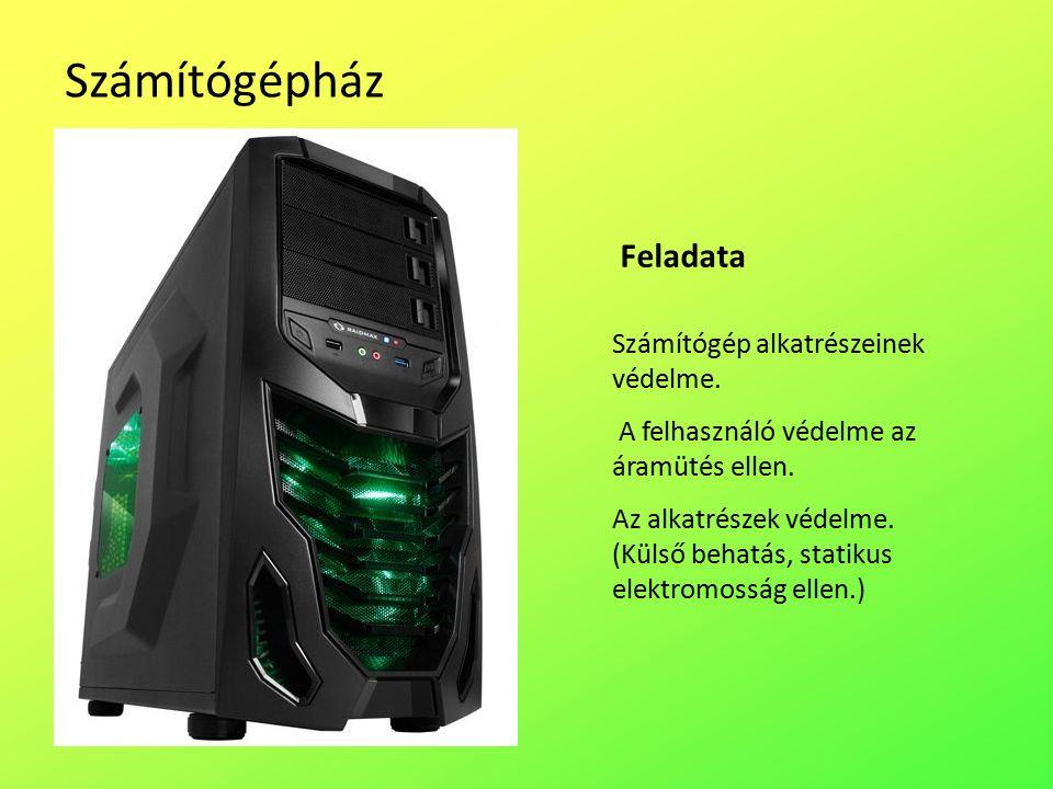 Számítógépház Számítógép alkatrészeinek védelme. A felhasználó védelme az áramütés ellen.
