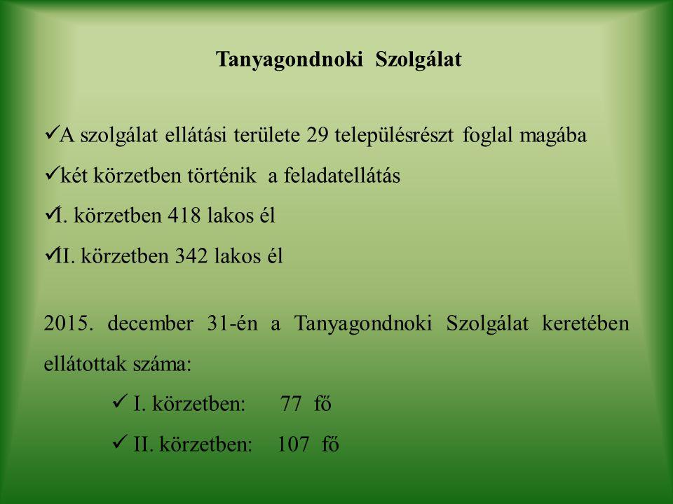 Tanyagondnoki Szolgálat A szolgálat ellátási területe 29 településrészt foglal magába két körzetben történik a feladatellátás I.