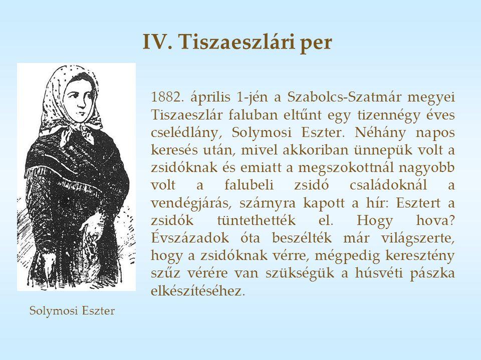 IV. Tiszaeszlári per 1882.