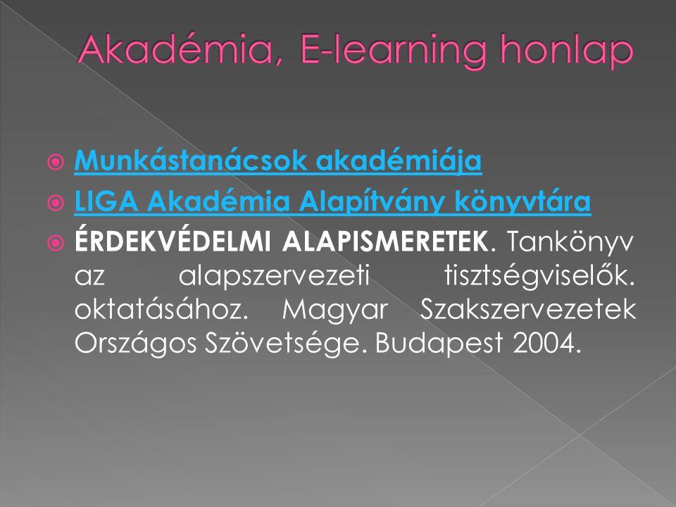  Munkástanácsok akadémiája Munkástanácsok akadémiája  LIGA Akadémia Alapítvány könyvtára LIGA Akadémia Alapítvány könyvtára  ÉRDEKVÉDELMI ALAPISMER