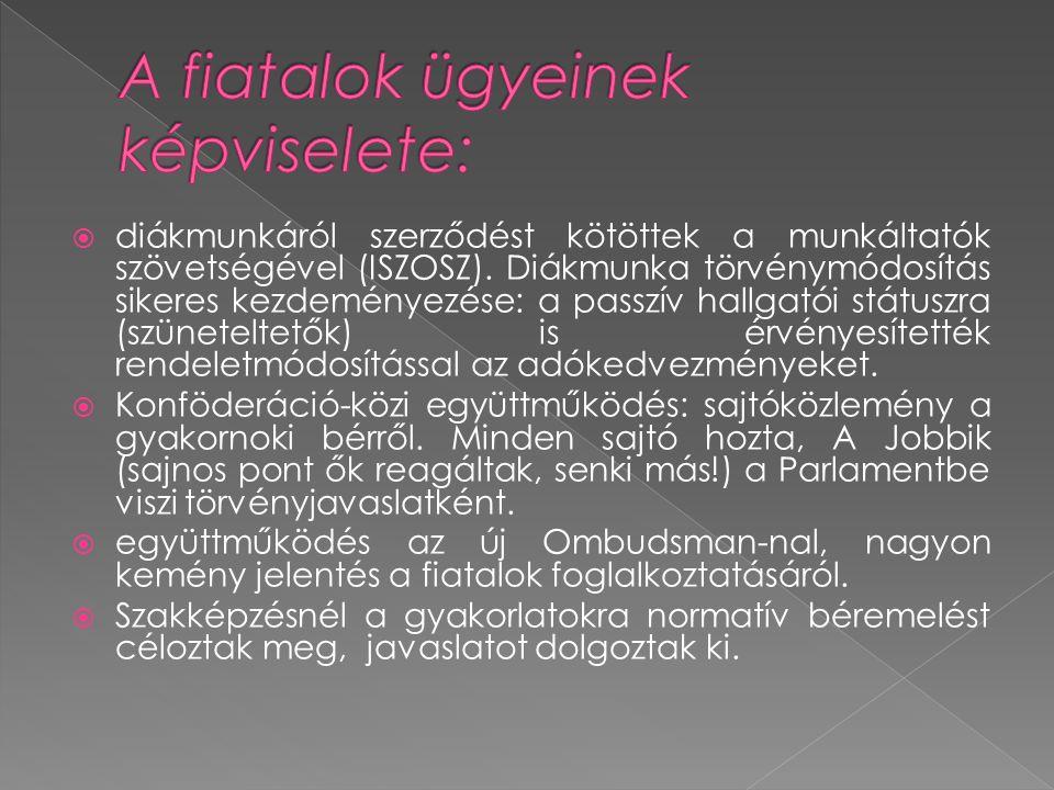  diákmunkáról szerződést kötöttek a munkáltatók szövetségével (ISZOSZ).