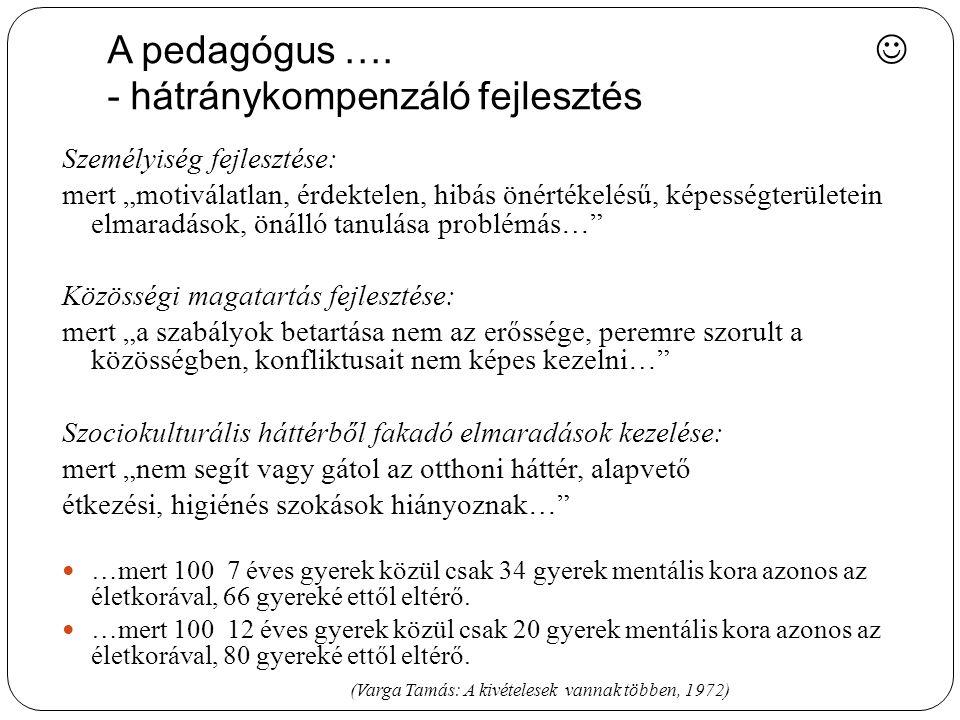 A pedagógus ….