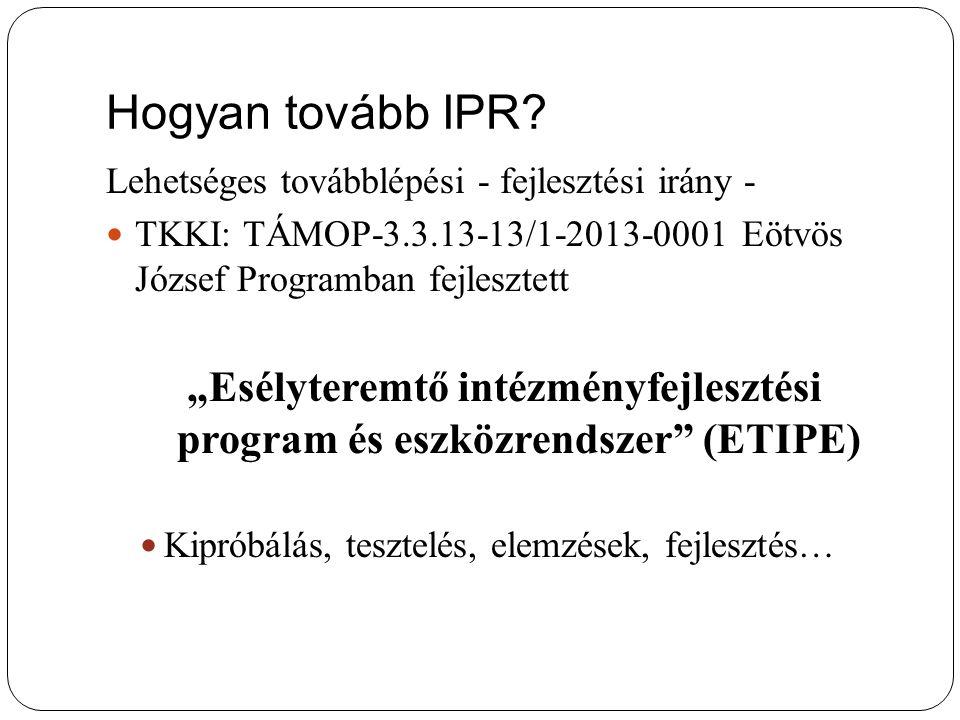 Hogyan tovább IPR.